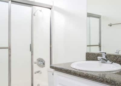 Bathroom showing the sink and shower
