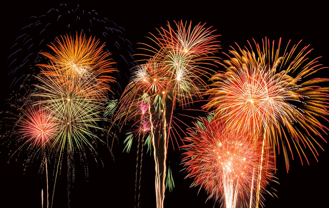 Fireworks near Norwalk