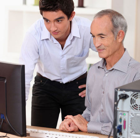 helping senior citizens setup and use computer and electronic devices