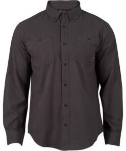 Rocky Worksmart Button Down Work Shirt Charcoal
