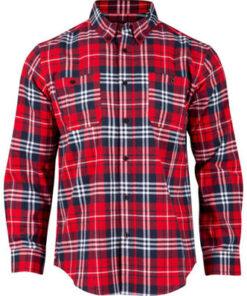 Rocky Worksmart Button Down Work Shirt Red Plaid