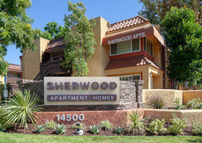 Sherwood Apartment Homes sign