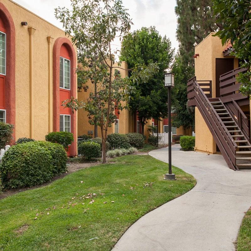 Peaceful apartment community
