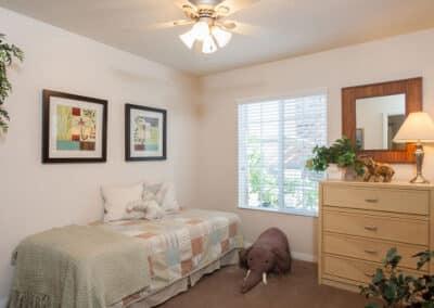 Kids bedroom with ceiling fan