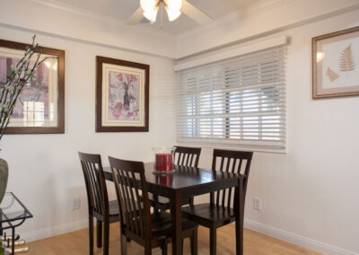 Dining Area with table and chairs and decor