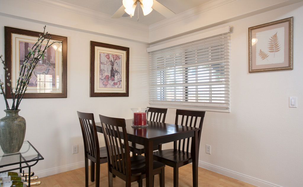 Dining room with furniture and decor