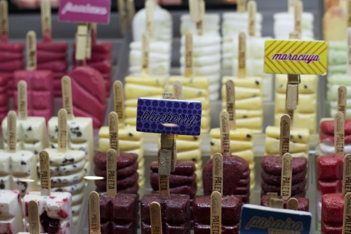 As verdadeira paletas mexicanas no mercado Roma/México