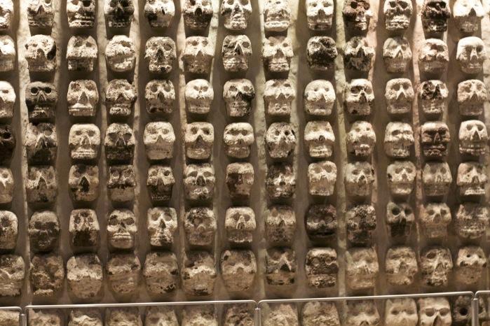 Crânios templo mayor