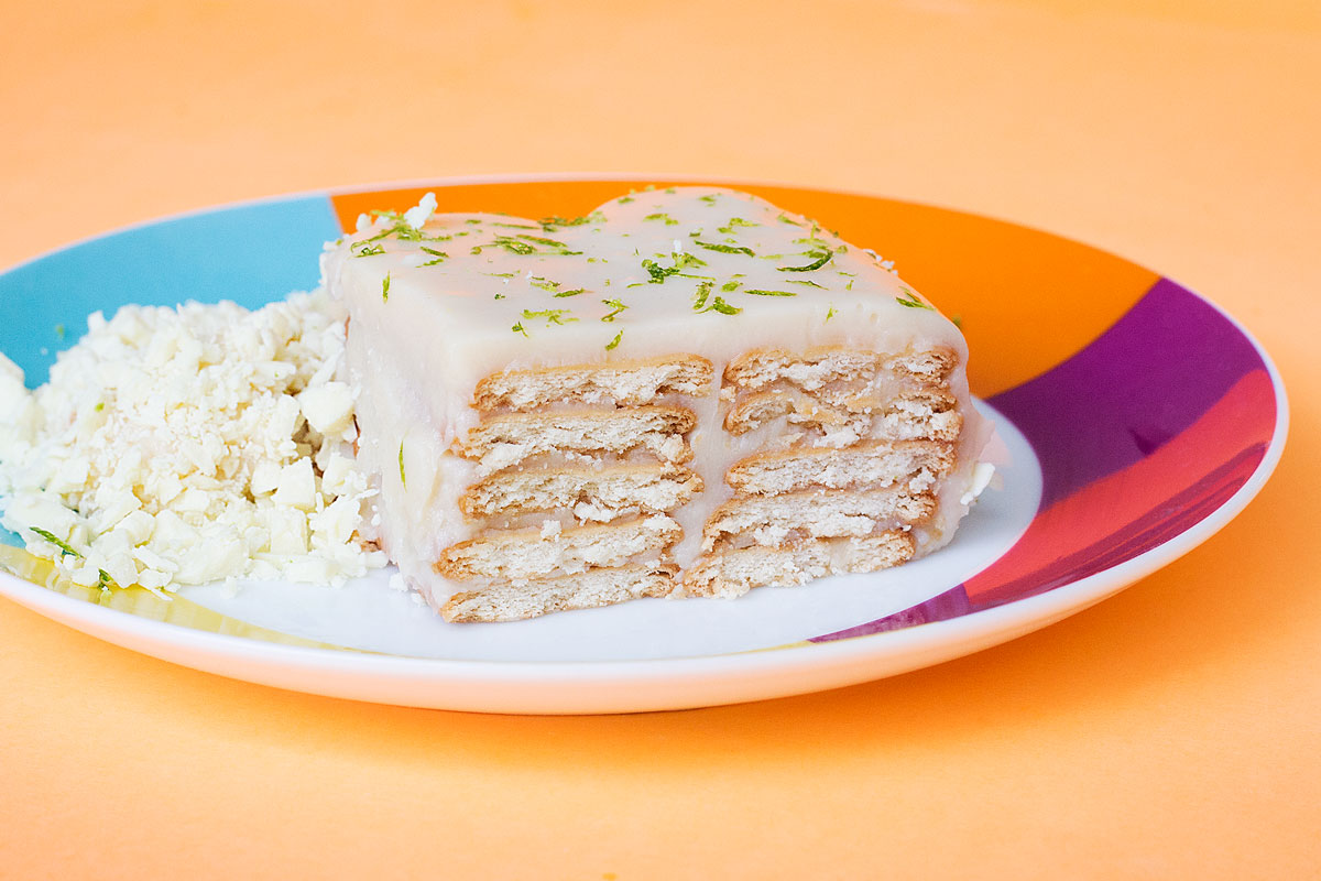 torta trufada de chocolate branco e limão
