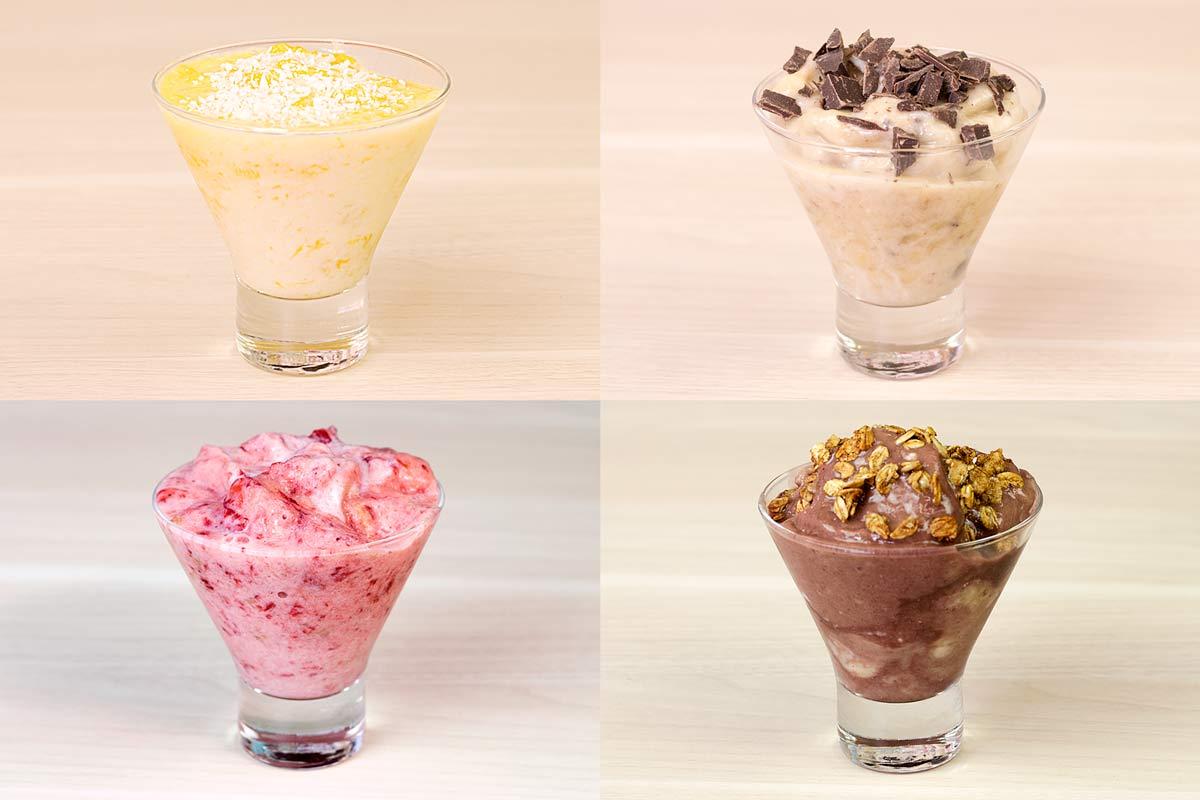4 receitas de frozen de iogurte
