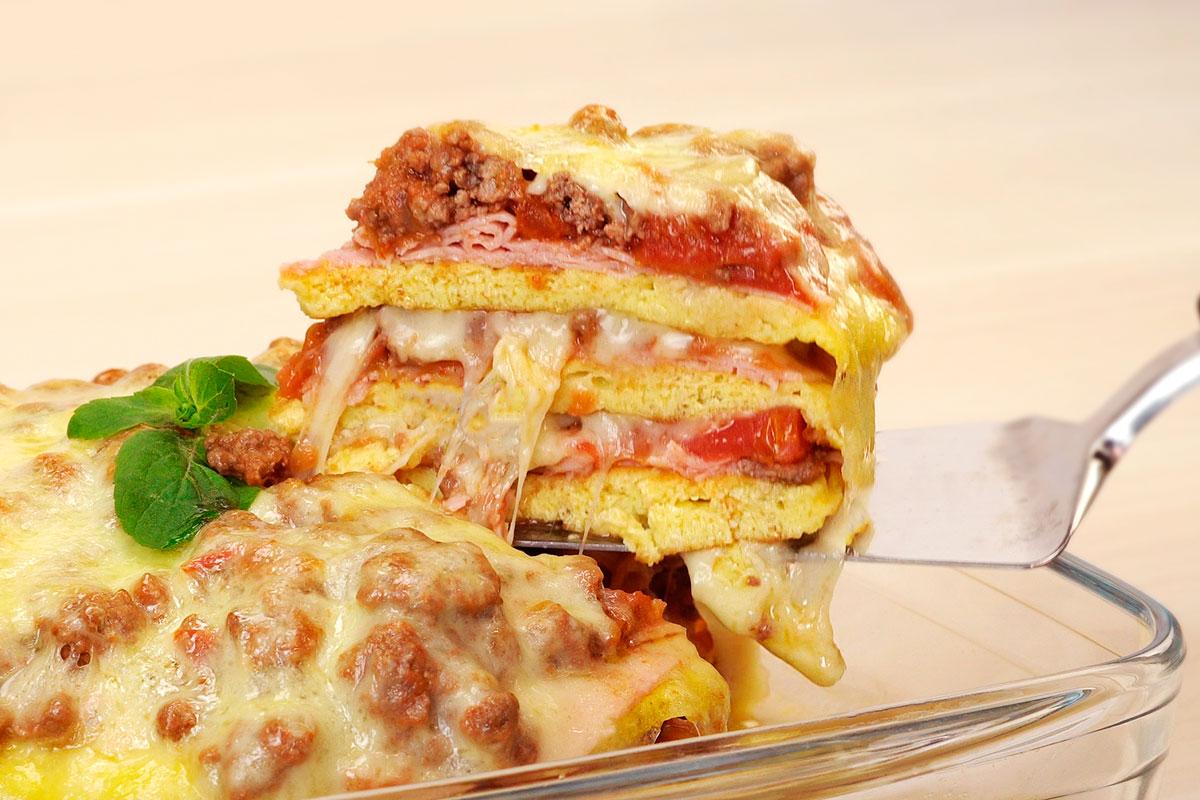 panqueca com presunto e queijo