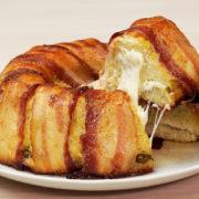 torta de bacon e batata