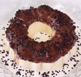 Pudim Sorvete de Leite Ninho com Chocolate