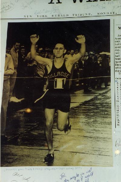 Joe Kleinerman Winning a Race