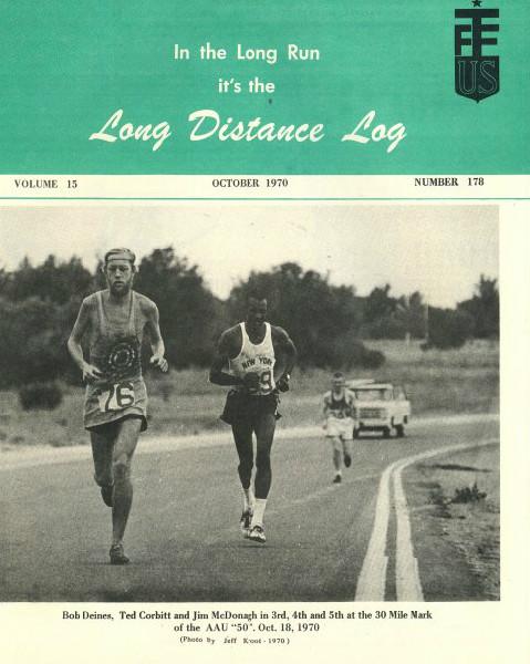 Ted Corbitt Running a Marathon in 4th Place