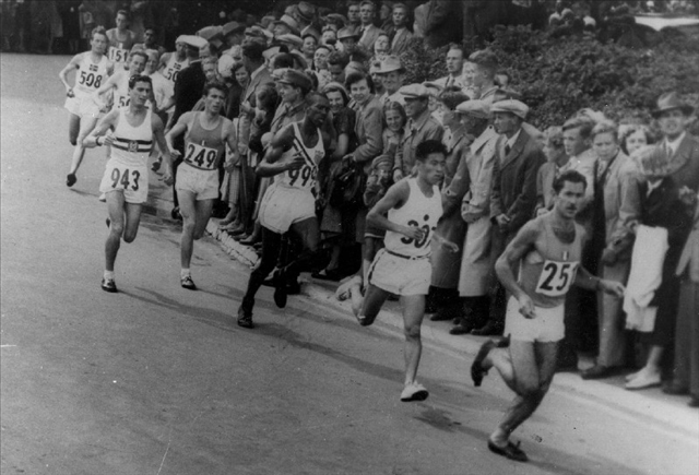 Men Competing in the 1952 Olympic Marathon
