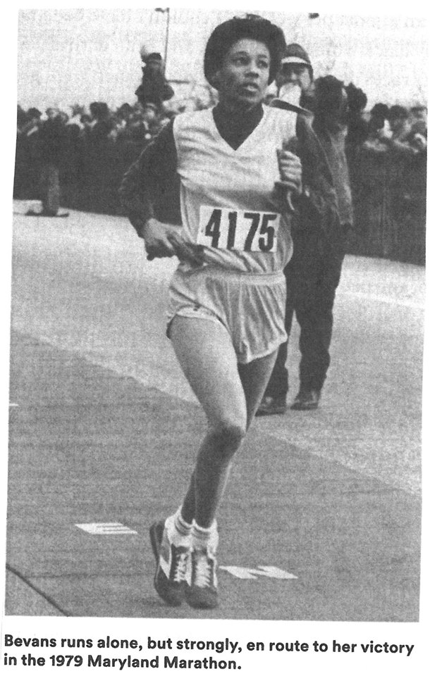 Marilyn Bevans in the 1979 Maryland Marathon