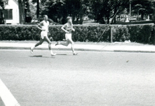 Ted Corbitt and Geoff Watt Yonkers Racing in 1959