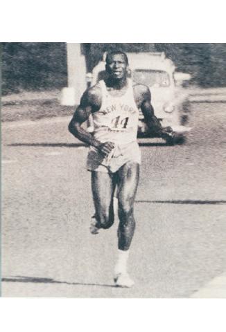 African-American Man Running a Race