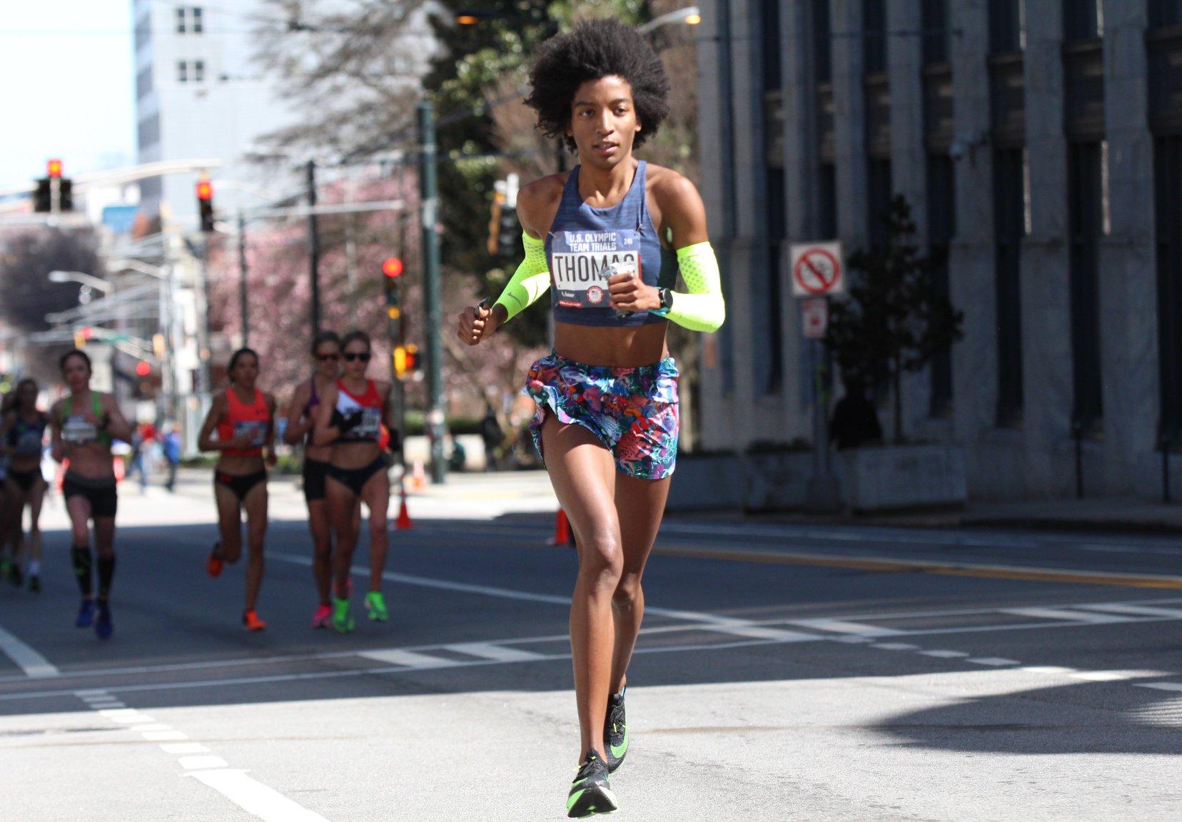 Peyton Thomas in a Marathon