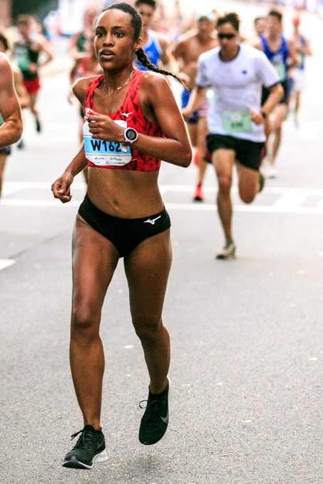 Janel Blancett Running a Marathon