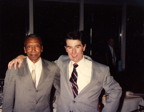 Ted Corbitt with Joe Burns