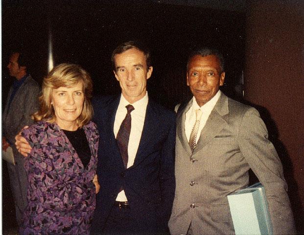 Ted Corbitt with Jane and Gary Muhrcke