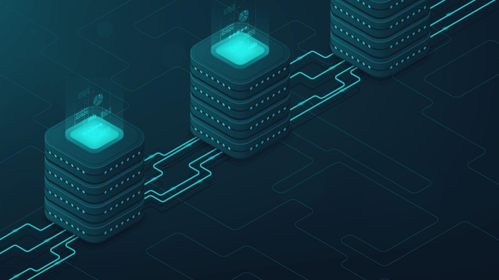 interconnected servers illustration