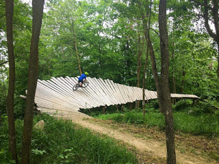 Chairlift bike carriers arrive   MTB trip up north