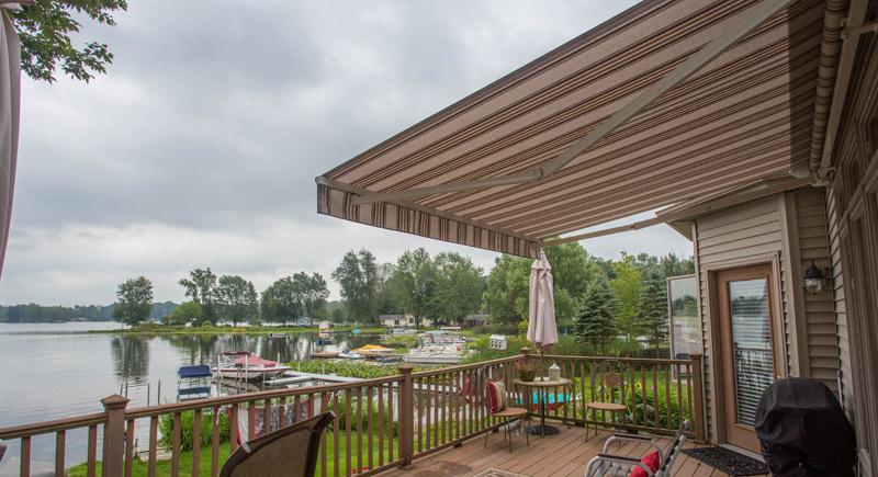 lake home deck shade