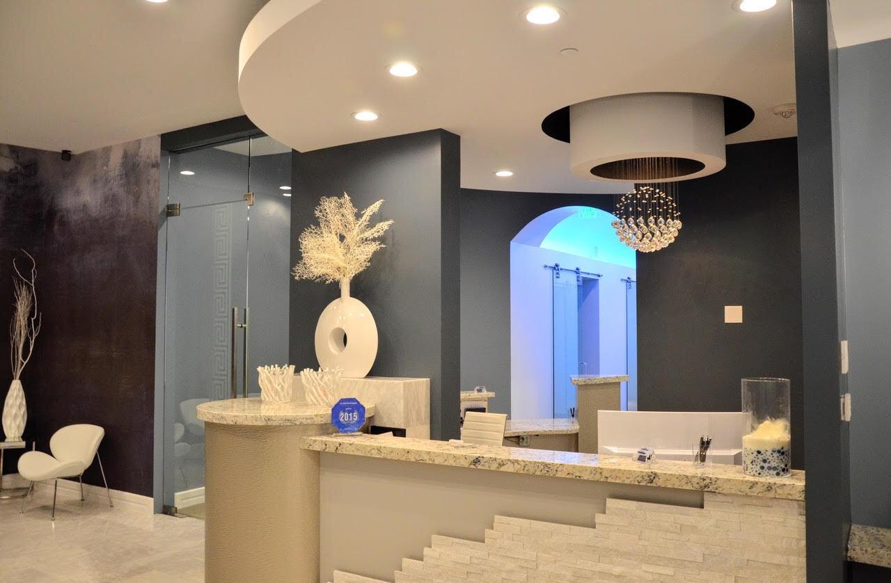 Dental reception desk