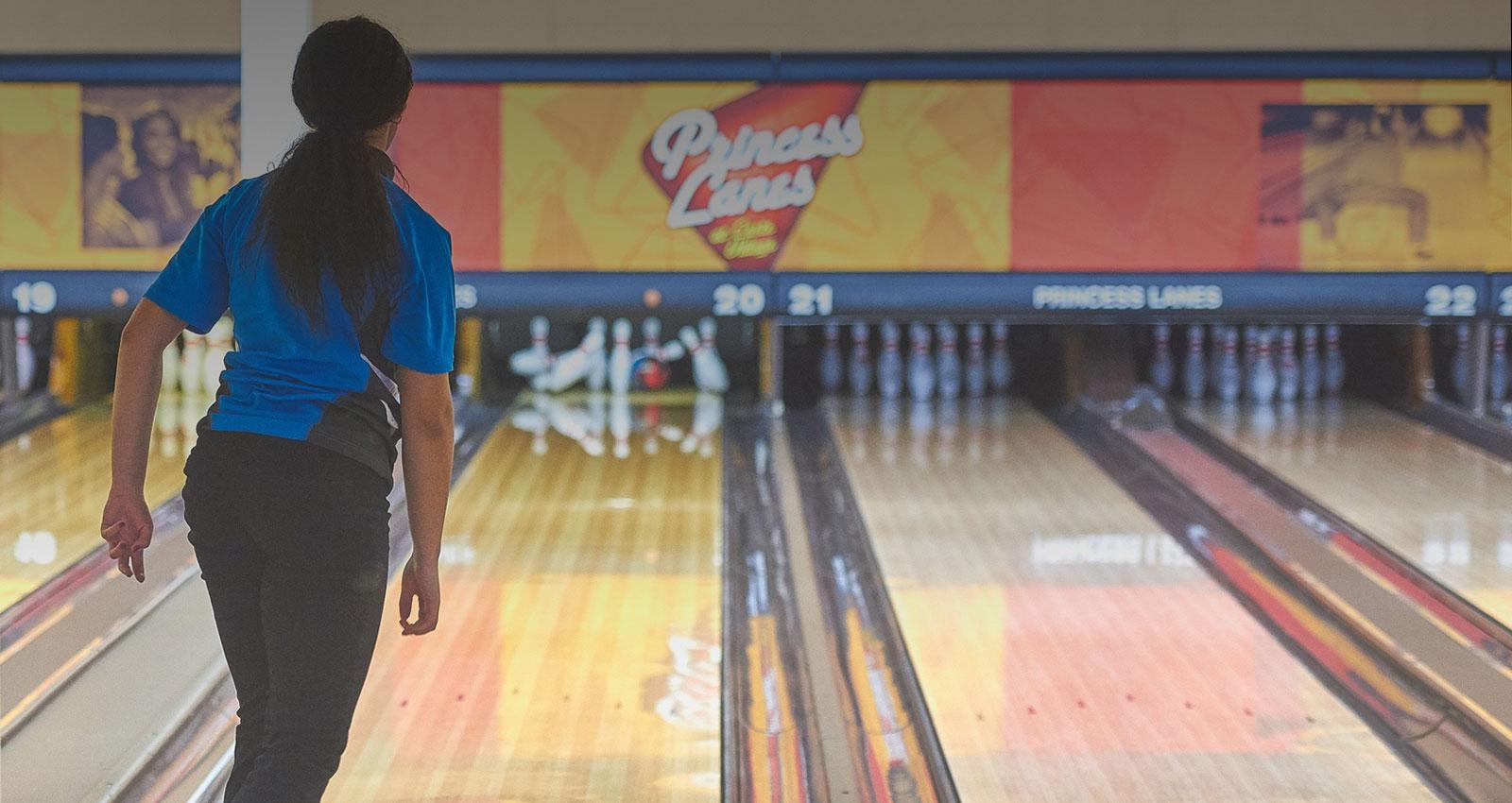 Princess Lanes Bowling Center in Caste Village