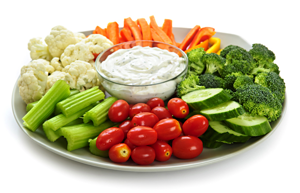 Veggie Tray from Prior's Tap and Tavern in Princess Lanes Bowling Center