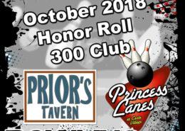 October Honor Roll at Princess Lanes