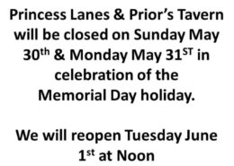 Closed on Memorial Day 2021
