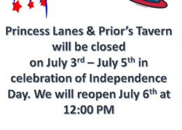 Closed July 3rd - 5th for Independence Day
