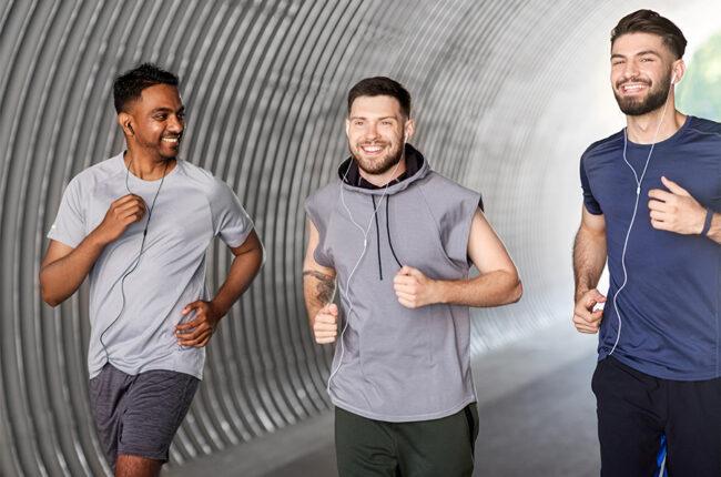 3 guys on a run