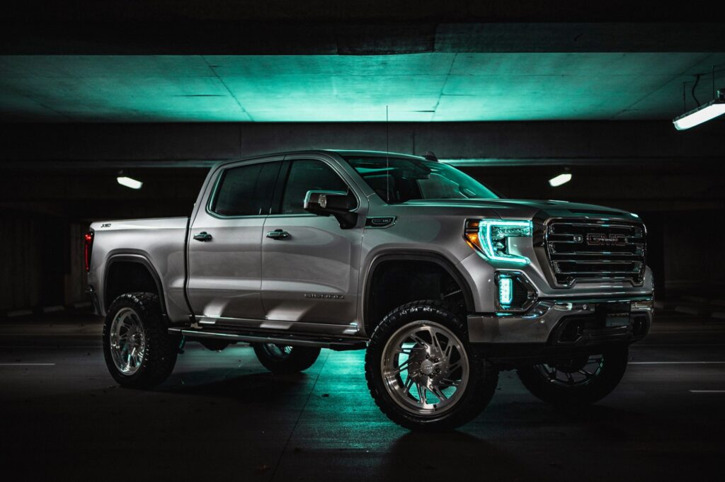 GMC Sierra 24x10 JTX Forged Subsonic Wheels Brushed
