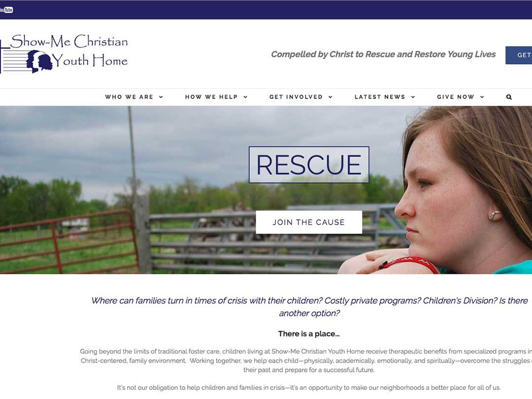 Show Me Christian Youth Home website