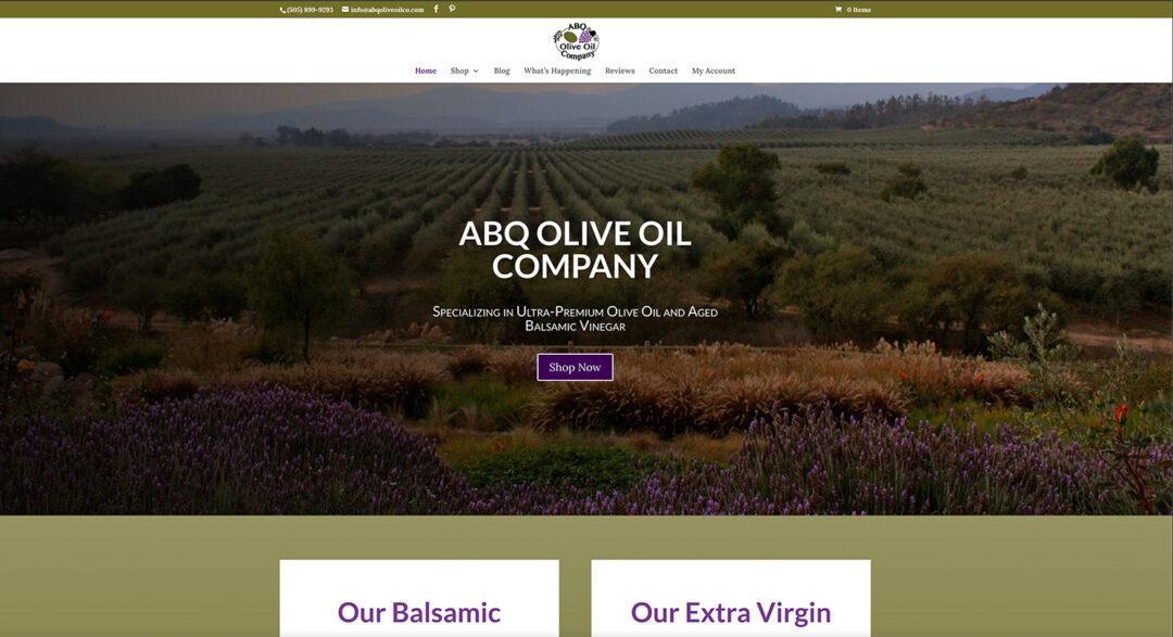 ABQ Olive Oil Company redesign