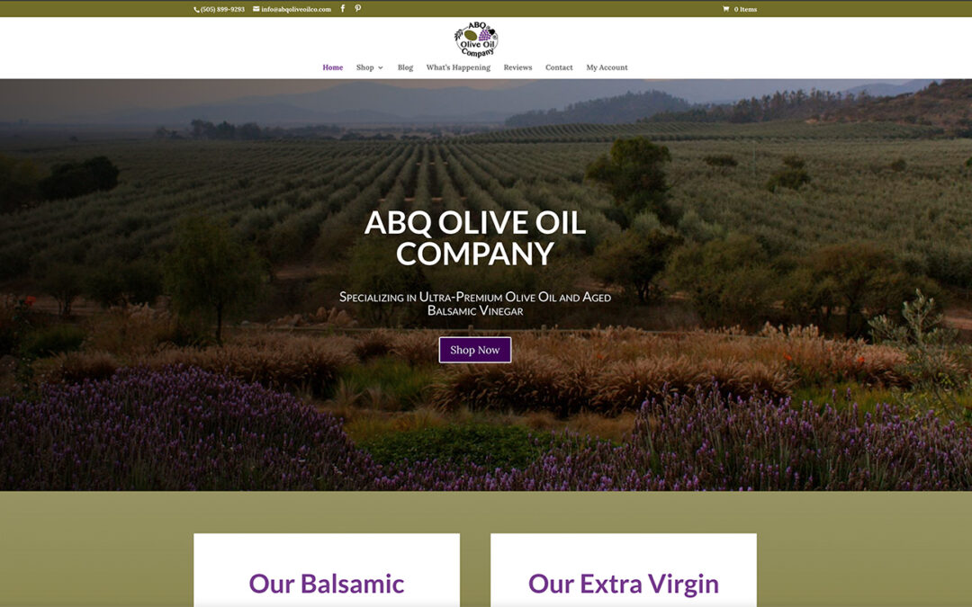 ABQ Olive Oil Company Website Redesign