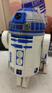 """Most impressed with this LEGO R2-D2 controlled by remote, complete with the """"beeps""""."""