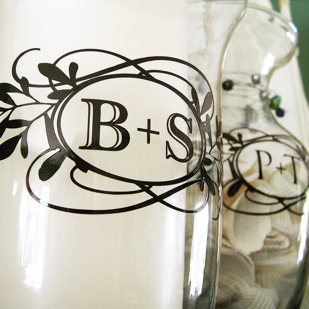 monogram vase
