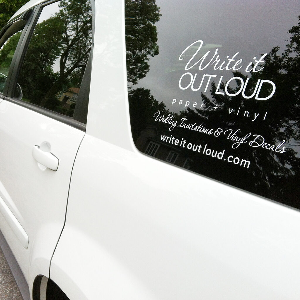 Write It Out Loud car decal