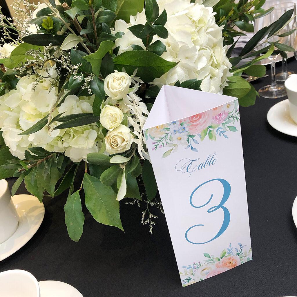 Trifold wedding menu