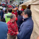Tony Rodríguez, apoya a familias afectadas por desgajamiento de cerro.