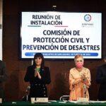 SE INSTALA LA COMISIÓN DE PROTECCIÓN CIVIL Y PREVENCIÓN DE DESASTRES, PRESIDIDA POR LA DIP. ANA BALDERAS