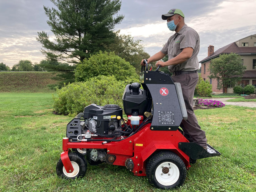 Aerification and Over-Seeding Services for Lush, Green Lawns