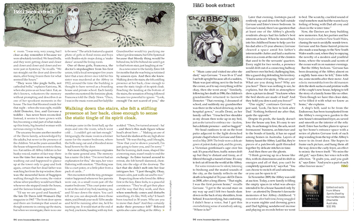 Where Spirits Dwell extract in House and Garden magazine 2