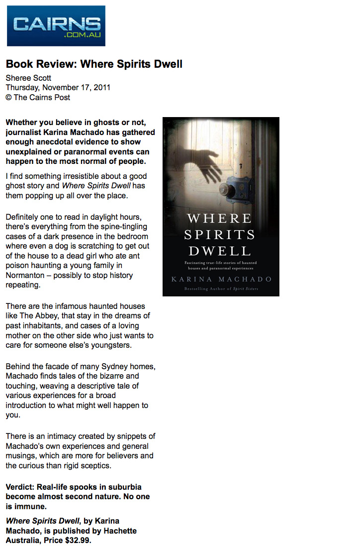 Where Spirits Dwell review -Cairns Post